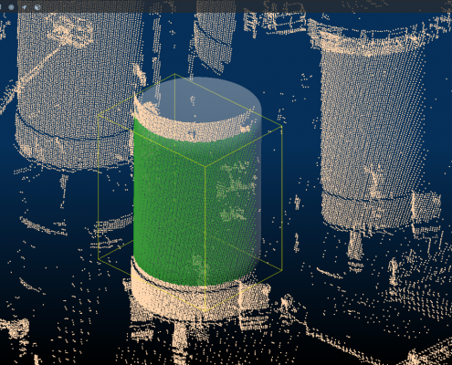 Object detection active in point-cloud LIDAR data